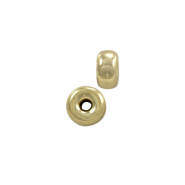 5x2.6mm 14k Gold Rondelle Bead (1-Pc)