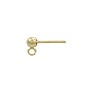Ball Post Earring w/Ring 3mm 14k Yellow Gold (1-Pc)