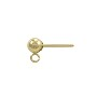 Ball Post Earring w/Ring 4mm 14k Yellow Gold (1-Pc)