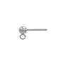 3mm 14k White Gold Ball Post Earring with Ring (1-Pc)