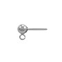 4mm 14k White Gold Ball Post Earring with Ring (1-Pc)