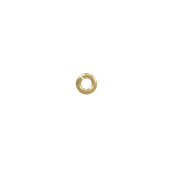 3mm 14k Yellow Gold Round Open Jump Ring (1-Pc)