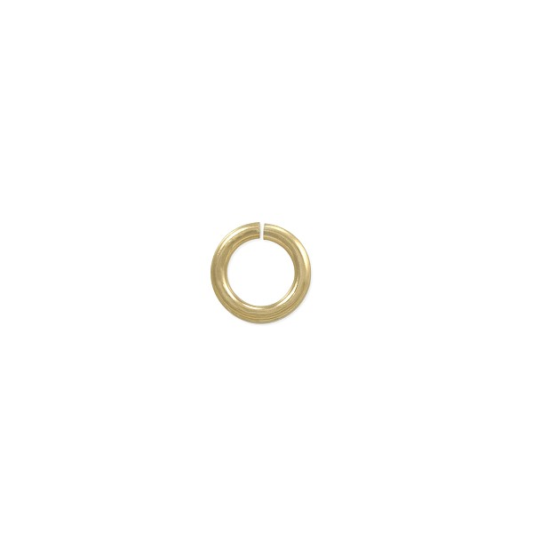 4.5mm 14k Yellow Gold Round Open Jump Ring (1-Pc)