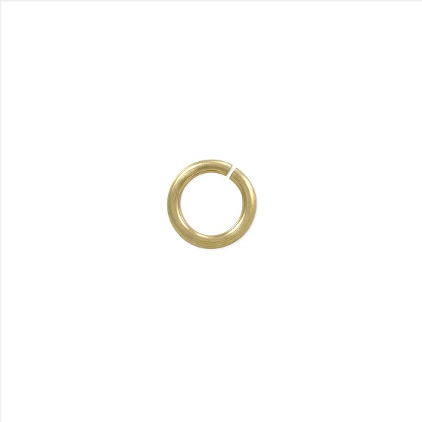 5mm 14k Yellow Gold Round Open Jump Ring (1-Pc)