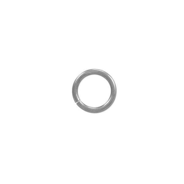 5.8mm 14k White Gold Round Open Jump Ring (1-Pc)