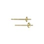 Pearl Post with 3mm Pad 14k Yellow Gold (1-Pc)