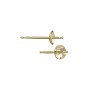 Pearl Post with 4mm Pad 14k Yellow Gold (1-Pc)