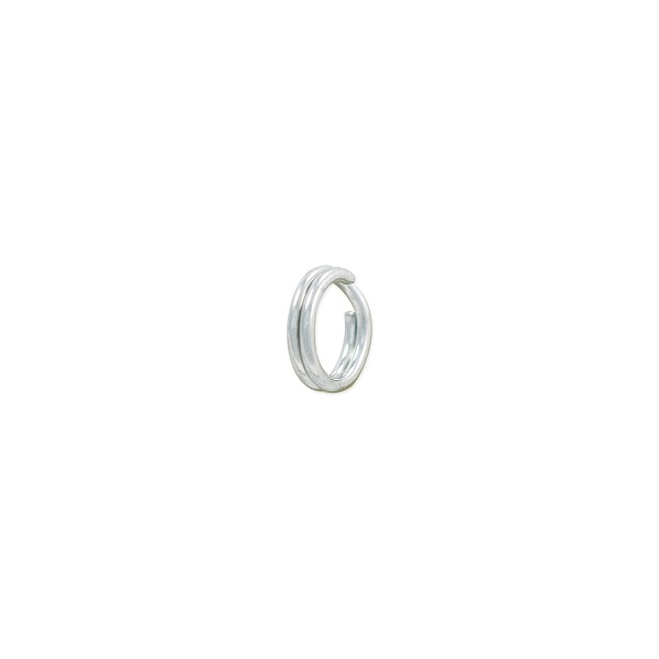 5mm 14k White Gold Split Ring (1-Pc)