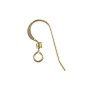 Shepherd Hook Ear Wire with Coil 15mm 14k Yellow Gold (1-Pc)