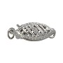 Filigree Clasp 13x5mm 14k White Gold (1-Pc)
