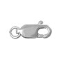 Lobster Claw Clasp - 12x5mm 14k White Gold (1-Pc)