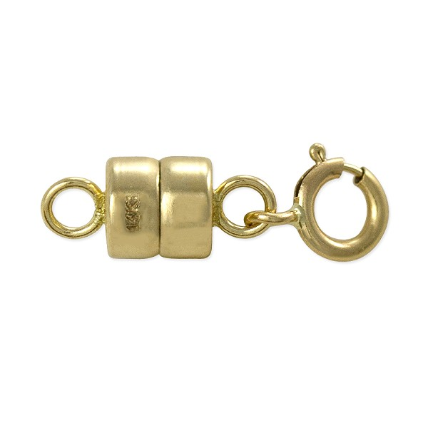 Magnetic Clasp Converter 10x4mm 14k Yellow Gold with 5mm Spring Ring (1-Pc)
