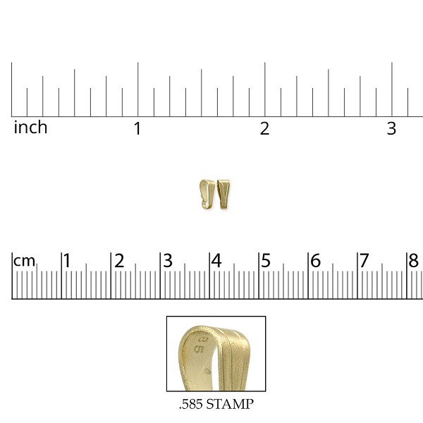 Snap Bail 5x2mm 14k Yellow Gold (1-Pc)