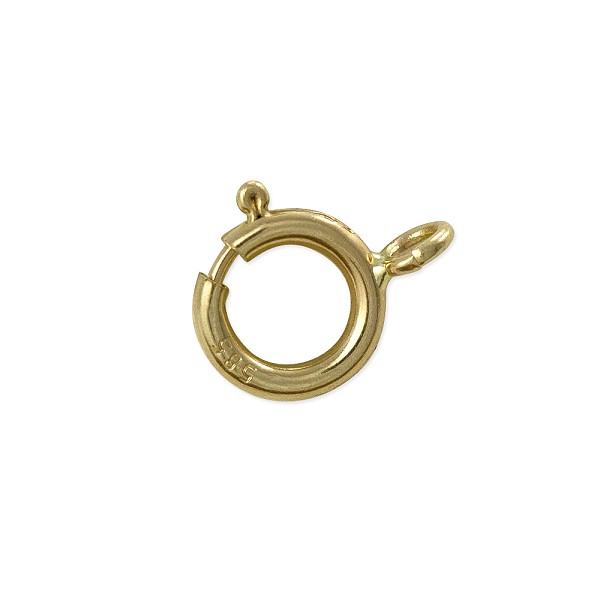 Spring Ring Clasp 5mm 14k Yellow Gold Open Ring (1-Pc)