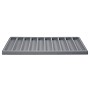 Standard Size 1x10 Grey Flocked Tray Insert