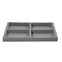 Half Size 2x2 Grey Flocked Tray Insert