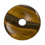 Tiger Eye Natural Stone 30mm Donut Pendant