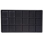Standard Size 3x6 Black Flocked Tray Insert
