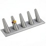 Five Ring Finger Jewelry Display - Steel Gray
