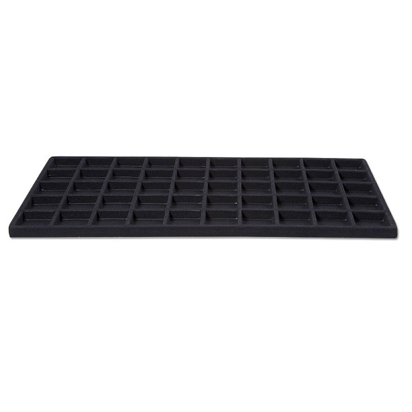 flocked jewelry tray insert for standard size tray 5x10 black