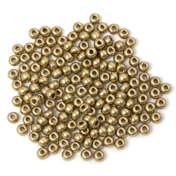 Czech Seed Beads - 6/0 Matte Gold (10 Grams)