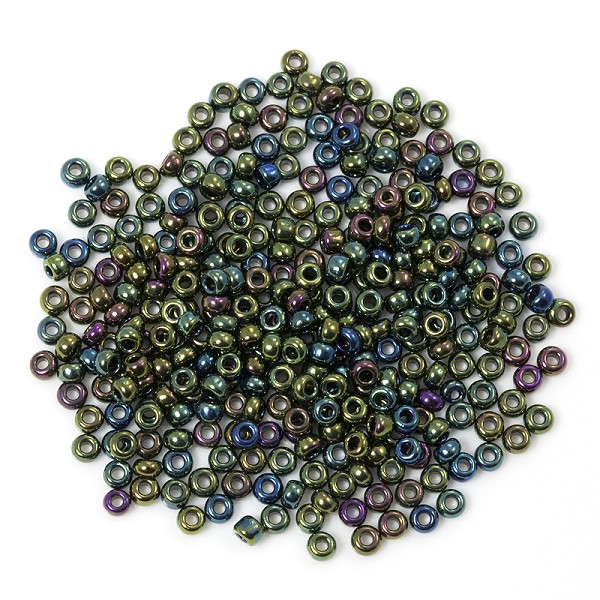 Czech Seed Beads - 8/0 Green Iris (10 Grams)