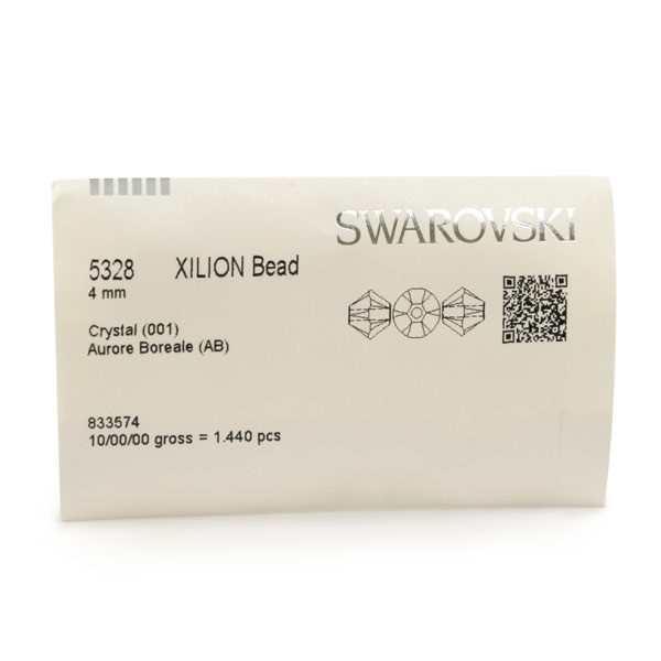 Swarovski 5328 4mm Crystal AB Bicone Bead (Factory Pack of 1,440)