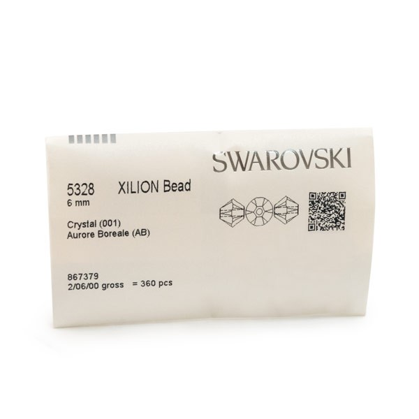Swarovski 5328 6mm Crystal AB Bicone Bead (Factory Pack of 360)