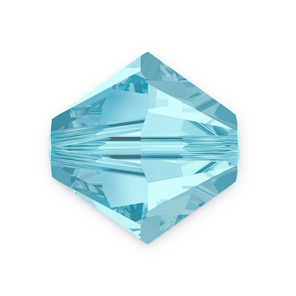 Swarovski Crystal 5328 2.5mm Aquamarine Bicone Bead (10-Pcs)