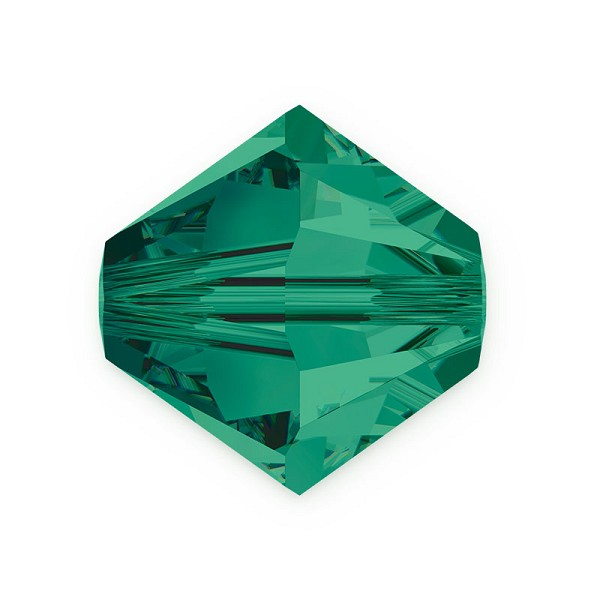 Swarovski 5328 8mm Emerald Bicone Bead (1-Pc)