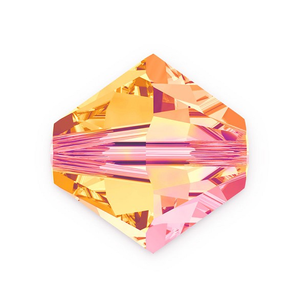 Swarovski 5328 6mm Crystal Astral Pink Bicone Bead (10-Pcs)