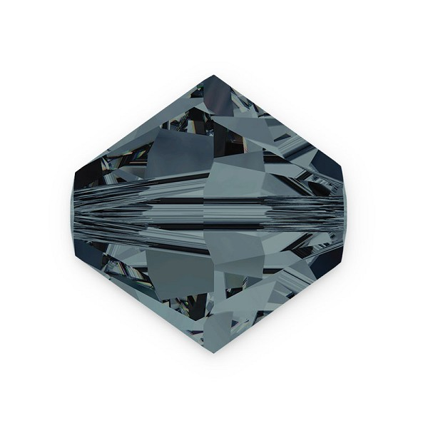 Swarovski 5328 4mm Graphite Bicone Bead (10-Pcs)