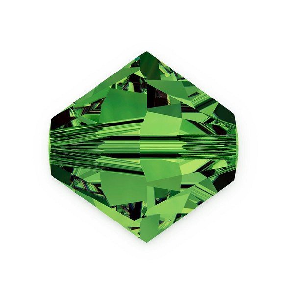 Swarovski 5328 4mm Dark Moss Green Bicone Bead (10-Pcs)