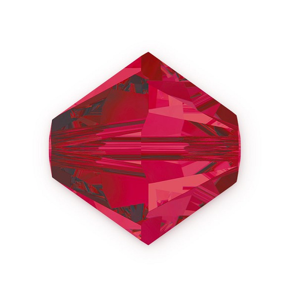Swarovski Crystal 5328 3mm Ruby Bicone Bead (10-Pcs)