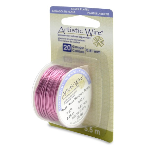 Artistic Wire 20ga Silver Plated Rose (6 Yards)