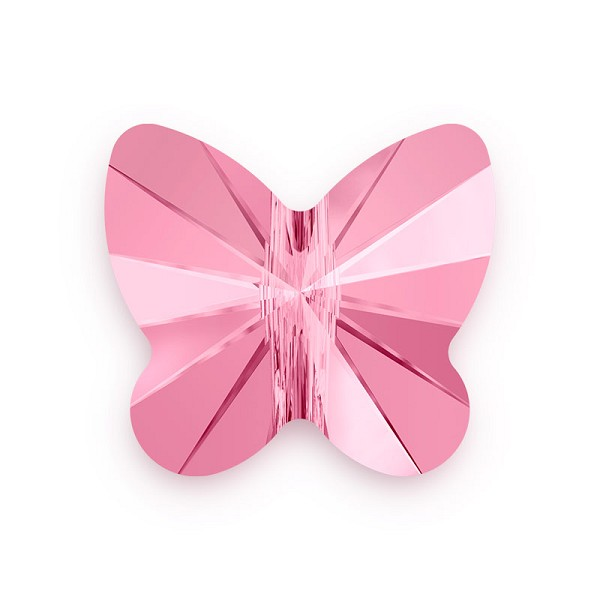 Swarovski Crystal Butterfly Bead 5754 8mm Light Rose (1-Pc)