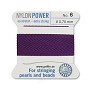 #6 Amethyst Griffin Nylon Bead Cord (2 Meters)