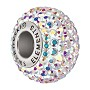 Swarovski BeCharmed Pavé Large Hole Bead 14mm Crystal AB (1-Pc)
