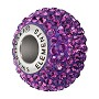 Swarovski Crystal BeCharmed Pavé Large Hole Bead 14mm Amethyst (1-Pc)