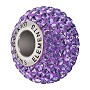 Swarovski Crystal BeCharmed Pavé Large Hole Bead 14mm Tanzanite (1-Pc)