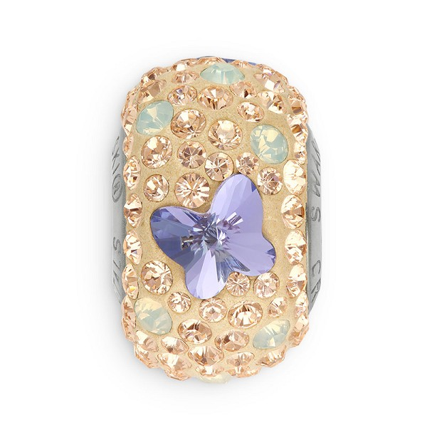 Swarovski Crystal BeCharmed Pavé 82133 Silk 14mm Butterfly Bead (1-Pc)