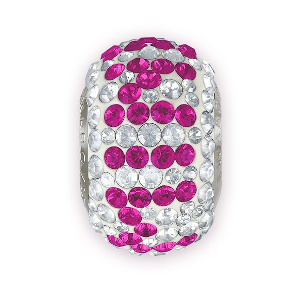 Swarovski Crystal 81892 Be Mine Pavé BeCharmed Bead 14.5mm Fuchsia (1-Pc)