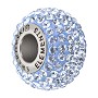 Swarovski Crystal BeCharmed Pavé Large Hole Bead 14mm Light Sapphire (1-Pc)