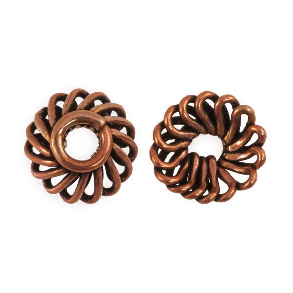 Designer Copper Bead Cap 11x5mm (1pc)
