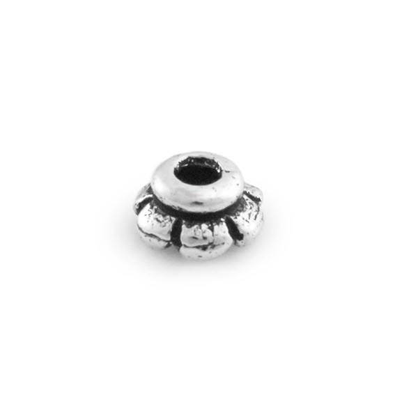TierraCast Scallop Bead Cap 4mm Pewter Antique Silver Plated (2-Pcs)