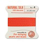 #4 Coral Griffin Silk Bead Cord (2 Meters)