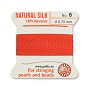 #6 Coral Griffin Silk Bead Cord (2 Meters)
