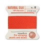 #8 Coral Griffin Silk Bead Cord (2 Meters)