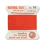 #10 Coral Griffin Silk Bead Cord (2 Meters)