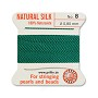 #8 Green Griffin Silk Bead Cord (2 Meters)